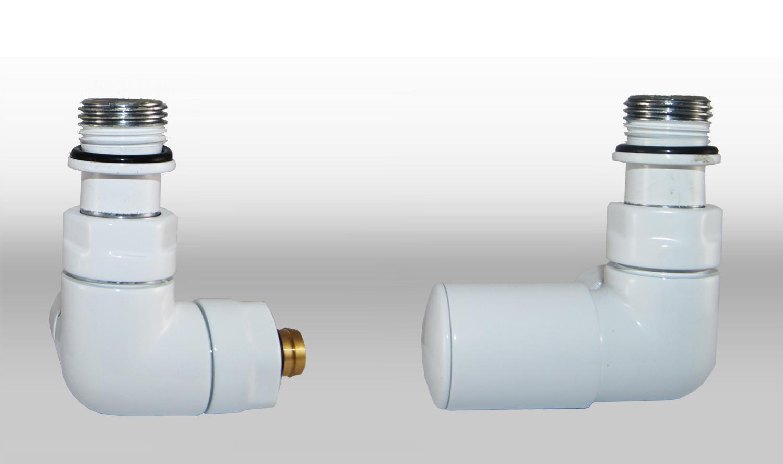 Vario Term Termostatický ventil Vision, klasické připojení Barva: Bílá (RAL 9003), Provedení: Pravé, Svěrné spojky: 2x PEX-AL-PEX 16x2 mm