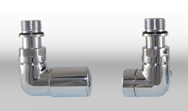 Vario Term Termostatický ventil Vision, klasické připojení Barva: Lesklý chrom, Provedení: Levé, Svěrné spojky: 2x PEX-AL-PEX 16x2 mm