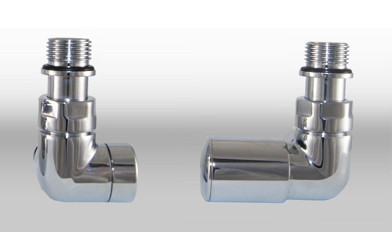 Vario Term Termostatický ventil Vision, klasické připojení Barva: Lesklý chrom, Provedení: Pravé, Svěrné spojky: 2x PEX-AL-PEX 16x2 mm