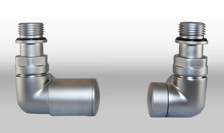 Vario Term Termostatický ventil Vision, klasické připojení Barva: Matný chrom, Provedení: Levé, Svěrné spojky: 2x CU 15x1 mm
