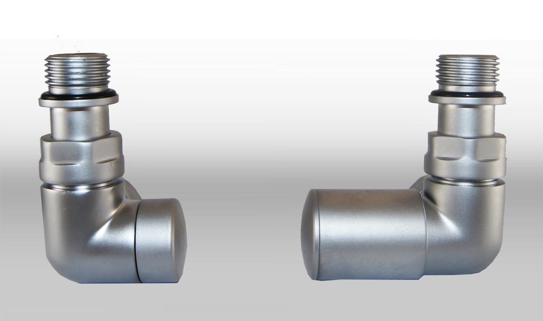 Vario Term Termostatický ventil Vision, klasické připojení Barva: Matný chrom, Provedení: Pravé, Svěrné spojky: 2x CU 15x1 mm