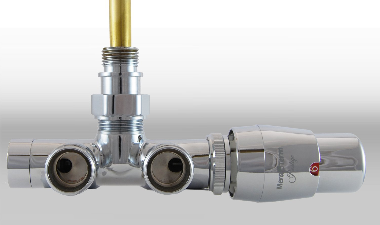 Vario Term Termostatický ventil Unico, jednobodové připojení, 50 mm Barva: Mosaz patina, Provedení: Levé