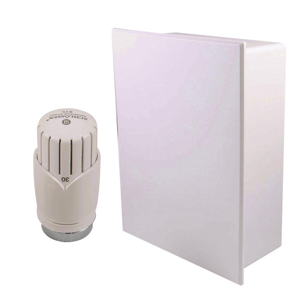 Schlösser RTL box HS1 s hlavicí osazenou uvnitř boxu Barva: Bílá, Svěrné spojky: 2x PEX-AL-PEX 16x2 mm
