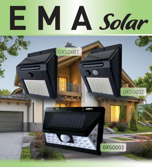 Přisazená nástěnná svítidla napájena solární energií