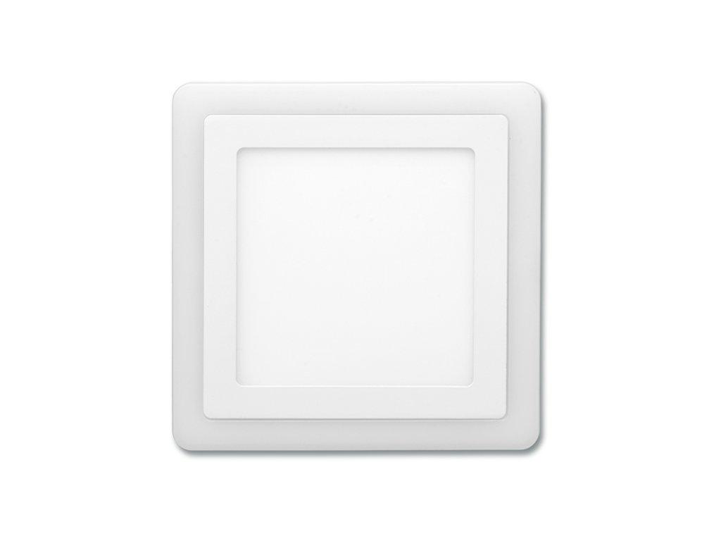 Bílý LED panel Ecolite DUO 12W 2v1 vestavný čtvercový LED-DUO-S12W