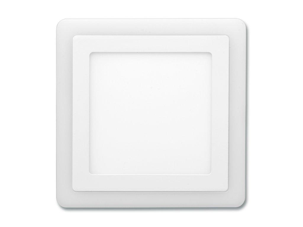 Bílý LED panel Ecolite DUO 18W 2v1 vestavný čtvercový LED-DUO-S18W
