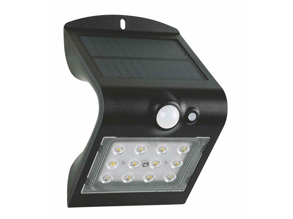 LED venkovní solární reflektor FOX 1,5W černý, se senzorem pohybu a setmění GXSO005. Skladem na Toplux.cz, ihned k odeslání