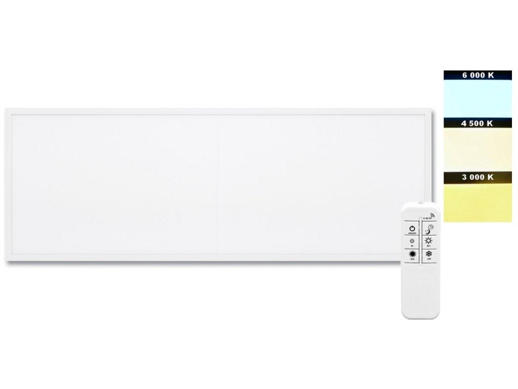 Vestavný LED panel ZEUS LED-GPL44/B-40/BI/CCT 30x120cm, určený primárně pro montáž do rastrových stropních podhledů. Stmívatelný zdroj (trafo) je součástí balení i s dálkovým ovladačem RF na 2x AA tuškové baterie. Barva světla je regulovatelná, lze nastavit teplotu chromatičnosti od 3.000K až do 6000K. Barva rámu svítidla je bílá, tudíž svítidla bezproblémů splynou s kazetovým stropem. Soustavu lze ovládat vždy jen 1 ovladačem, ale neomezený počet svítidel na 1 ovladač. Dosah signálu ovladače od svítidla je až 20metrů ve frekvenci 2,4 Ghz. TopLux Osvětlení Praha, Libeň