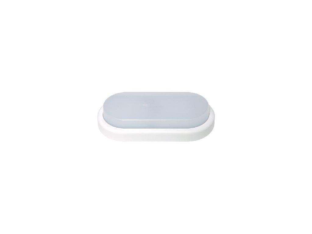 Nástěnné venkovní svítidlo OVAL 18W bílé LED-BL18W-BI