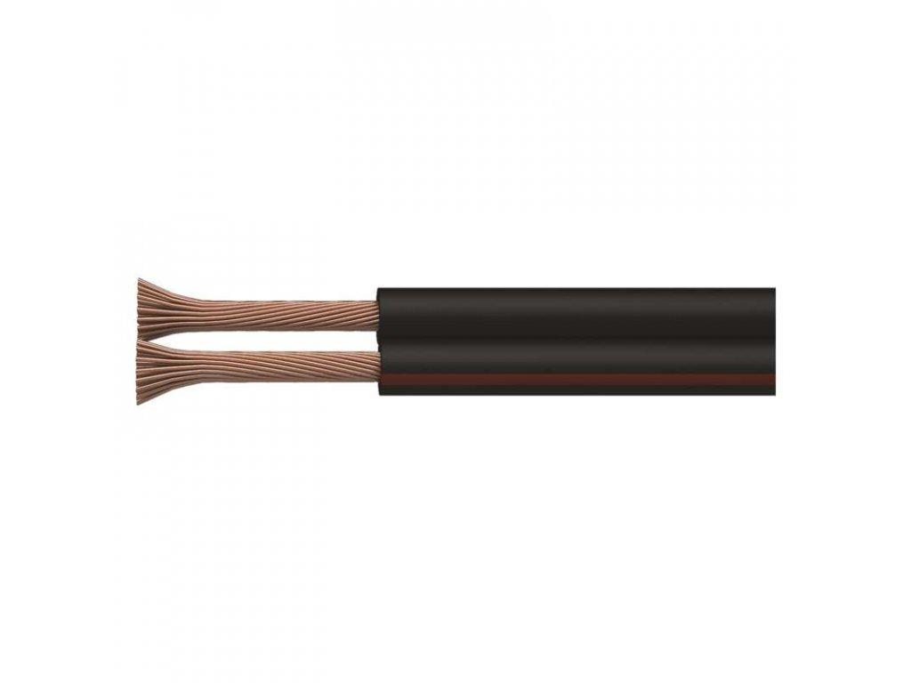 Klasická střední černá nestíněná dvojlinka 2x0,5mm