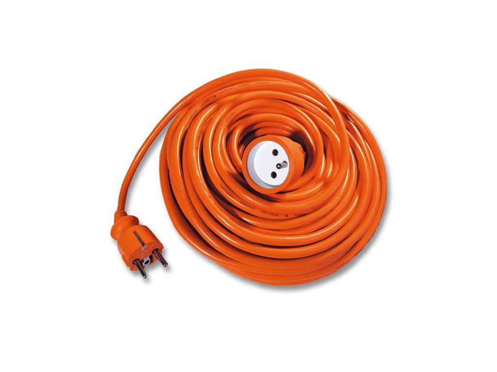 Prodlužovací kabel 20 metrů oranžové barvy