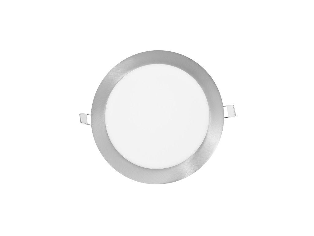 LED panel 12 W, krytí IP20 - pro vnitřní prostředí, rozměry⌀ 17,5 cm, montážní otvor 155 mm, svítivost 880 lm, 4 100 K, barva světla neutrální bílá, kruhové svítidlo vestavné, materiál hliník/plast, barva rámu CHROM lesklý, včetně pružin a trafa