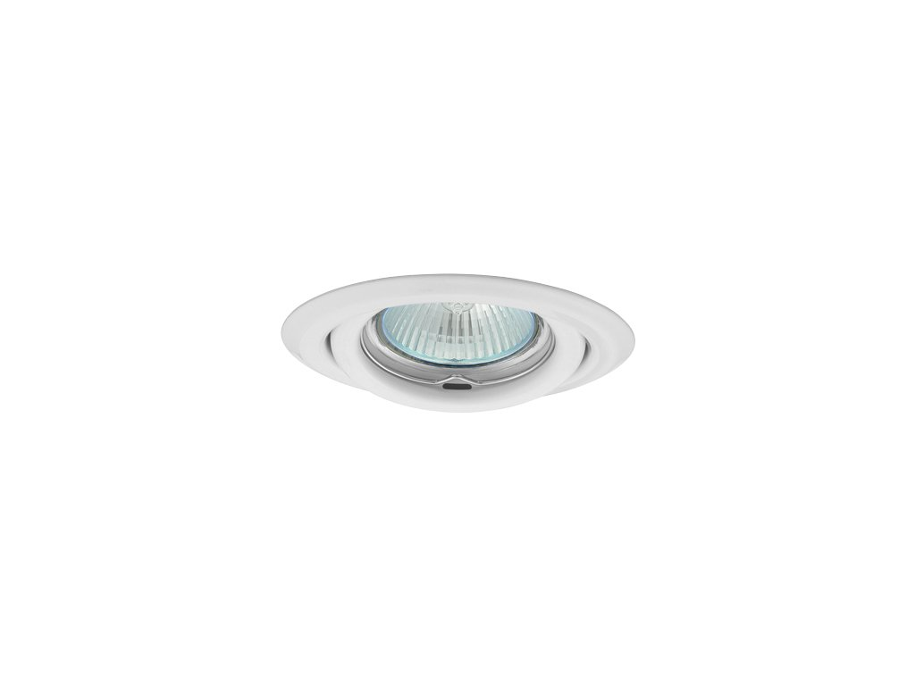 Bodovka výklopná bílá - podhledový rámeček pro LED žárovku. TopLux Praha skladem