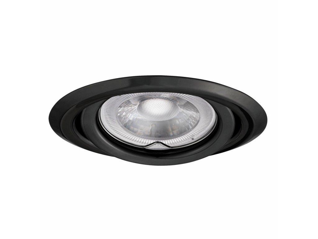Bodovka výklopná černý chrom - podhledový rámeček pro LED žárovku. TopLux Praha skladem