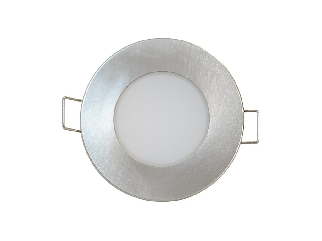 LED svítidlo BONO-R 5W vestavné stříbené kulaté 3000K 8cm GXLL024