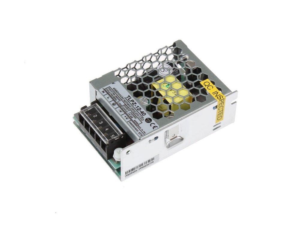 LED trafo zdroj 12V 40W vnitřní pro LED pásky stříbrné TopLux Osvětlení Praha skladem na prodejně nízká cena kvalita