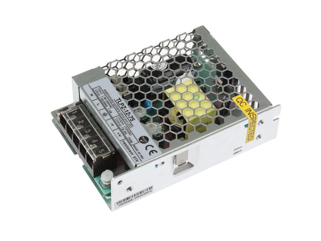 LED trafo zdroj 12V 75W vnitřní pro LED pásky stříbrné TopLux Osvětlení Praha skladem na prodejně nízká cena kvalita
