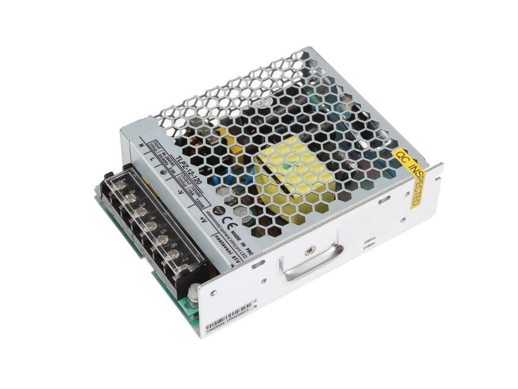 LED trafo zdroj 12V 120W vnitřní pro LED pásky stříbrné TopLux Osvětlení Praha skladem na prodejně nízká cena kvalita