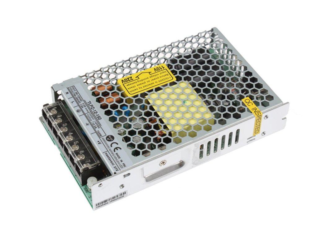 LED trafo zdroj 12V 150W vnitřní pro LED pásky stříbrné TopLux Osvětlení Praha skladem na prodejně nízká cena kvalita