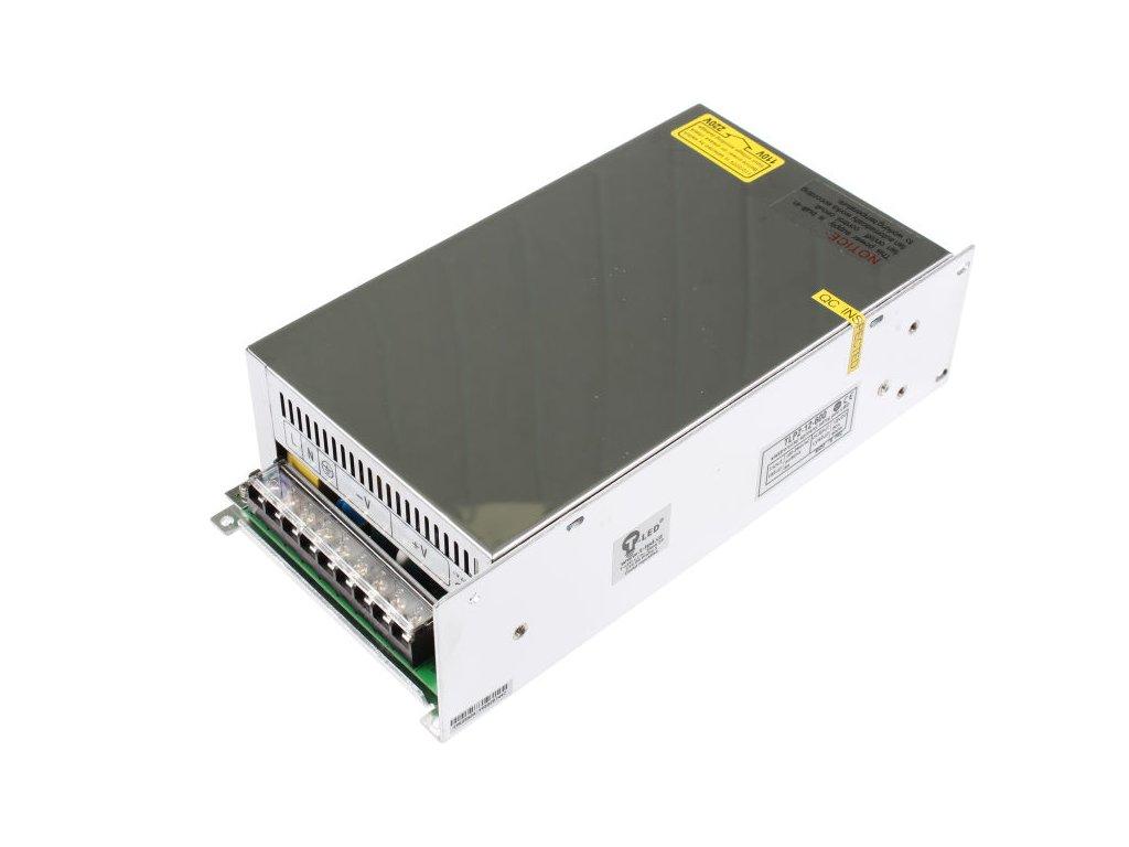 LED trafo zdroj 12V 600W vnitřní pro LED pásky stříbrné TopLux Osvětlení Praha skladem na prodejně nízká cena kvalita ihned