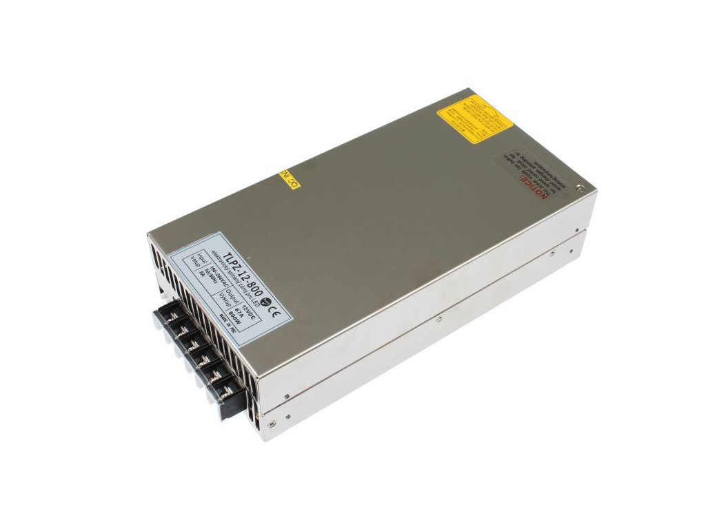 LED trafo zdroj 12V 800W vnitřní pro LED pásky stříbrné TopLux Osvětlení Praha skladem na prodejně nízká cena kvalita ihned