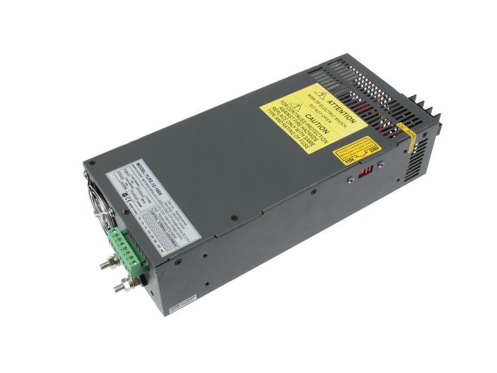 LED trafo zdroj 12V 1000W vnitřní pro LED pásky stříbrné TopLux Osvětlení Praha skladem na prodejně nízká cena kvalita ihned