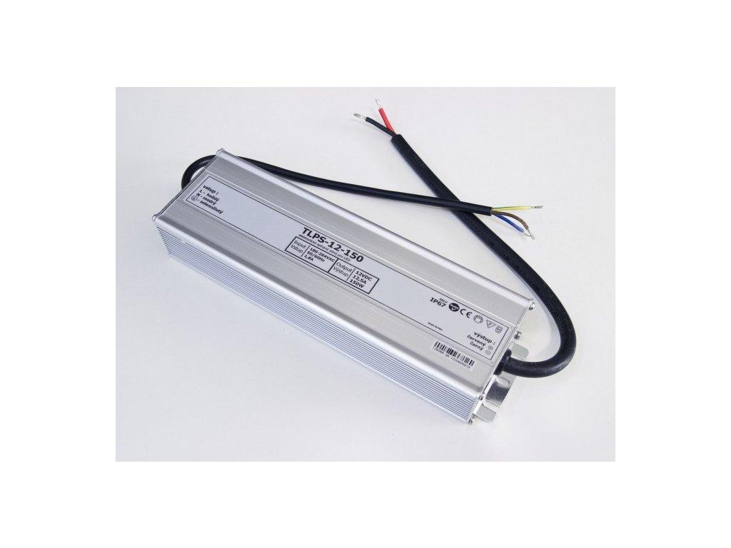 LED trafo zdroj 12V 150W IP67 vodotěsné venkovní pro LED pásky stříbrné TopLux Osvětlení Praha skladem na prodejně nízká cena kvalita ihned