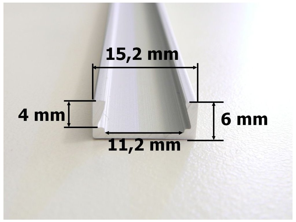 ALU hliníkový profil MIKRO2 M2 nenápadná malá chladící lišta