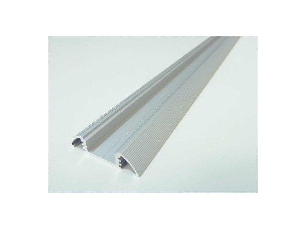 Hliníkový profil N10 chladící lišta pro LED pásek standartní levná s krytem difuzorem 1 TopLux Osvětlení Praha skladem