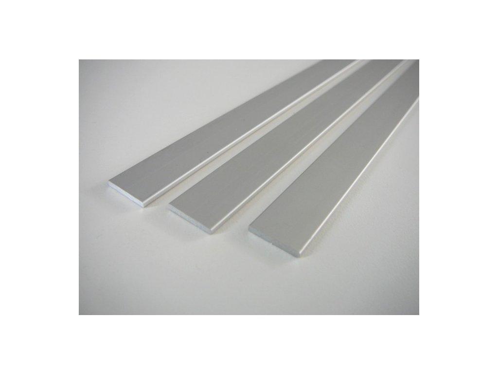 Plochý stříbrný - nástěnný hliníkový profil 15x2mm - chladící LED ALU základní přisazená lišta pro LED pásek bez krytu
