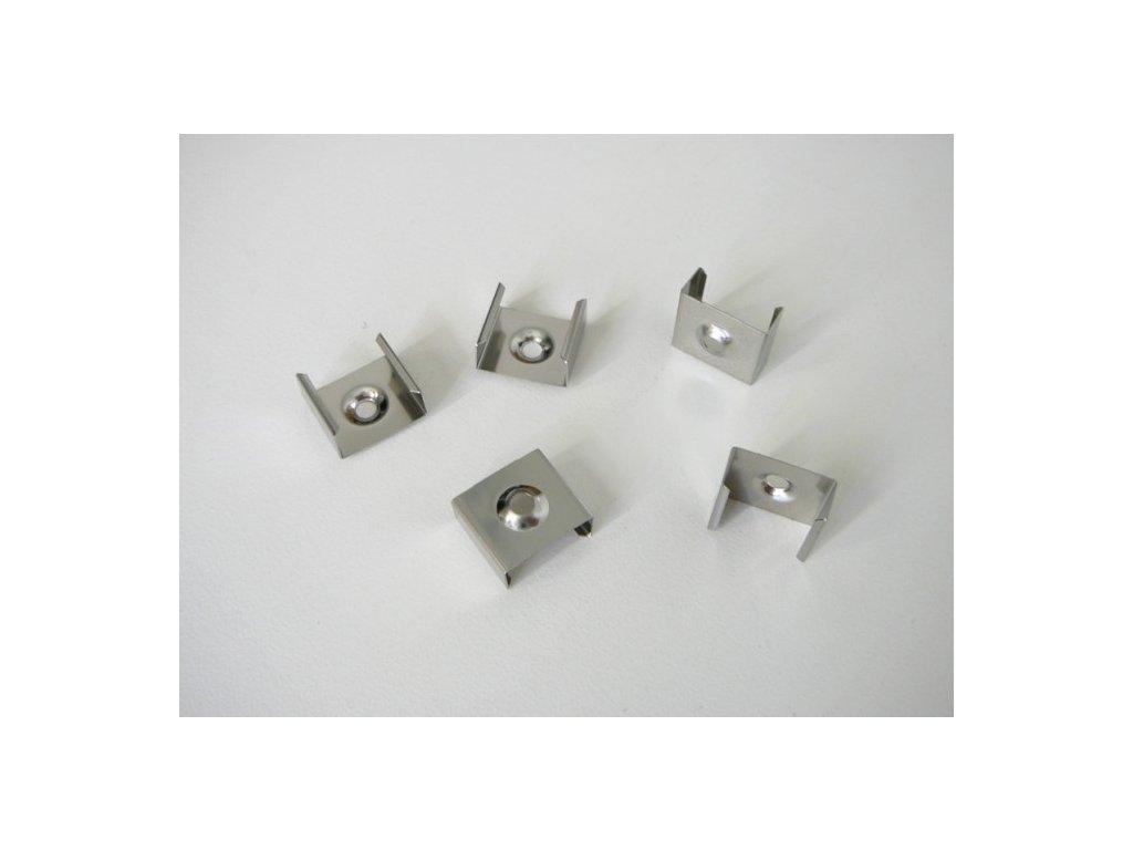 Úchyt nástěnného hliníkového profilu pro led pásek nerezový držák