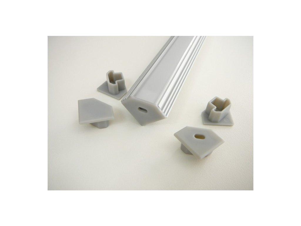Koncovka hliníkového profilu rohového pro LED pásek