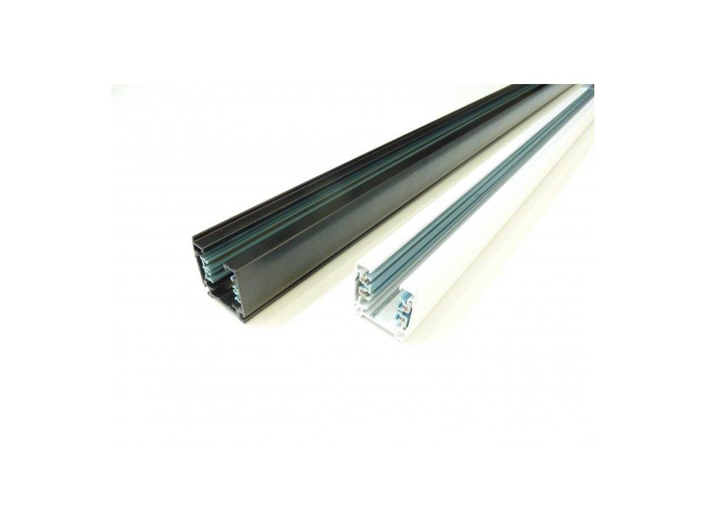 Třífázová napájecí lišta pro TRACK LIGHT LED svítidla  Barva bílá/černá, délka 193cm  Standartní běžný rozměr a provedení