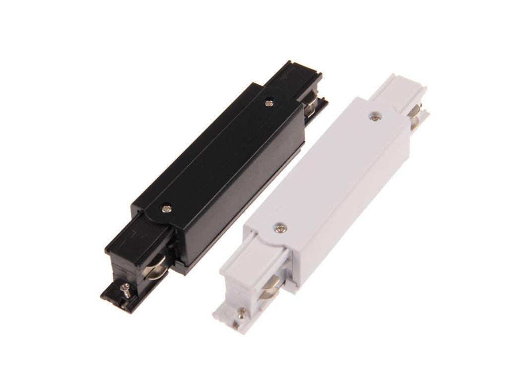 Napájecí dlouhá spojka I 3F lišty TRACK Light bílá/černá přípojka pro třífázovou kolejnici