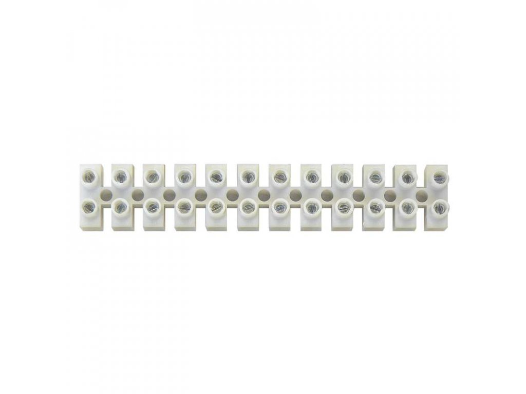 Svorkovnice lámací 12x4mm bílá barva