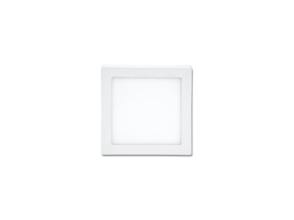 LED panel 12 W, krytí IP20 - pro vnitřní prostředí, rozměry17 x 17 x 3 cm, svítivost 880 lm, 4 100 K, barva světla neutrální bílá, čtvercové svítidlo přisazené, materiál hliník/plast, barva rámu BÍLÁ standard, včetně pružin a trafa