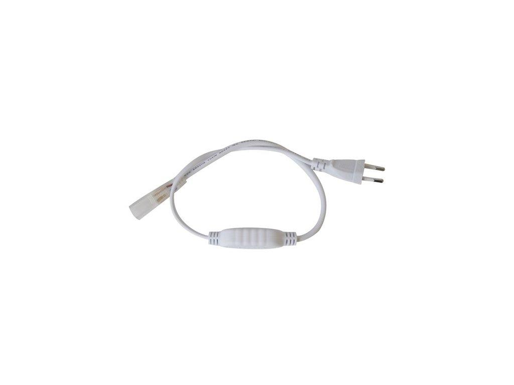Napájecí kabel pro jednobarevný LED pásek 230V NEON.  Max. délka která lze napájet v kuse je 50m  Navýběr je z variant 0,5metru nebo 3metry     Při venkovním použí je nutné spoj LED pásku a napájecího kabelu utěsnit například kvalitním silikonem nebo lepidlem.  Pozor! Je nutné vybrat správný napájecí kabel pro správný pásek.  Nelze pužít k RGB LED pásku 230V5 !!!