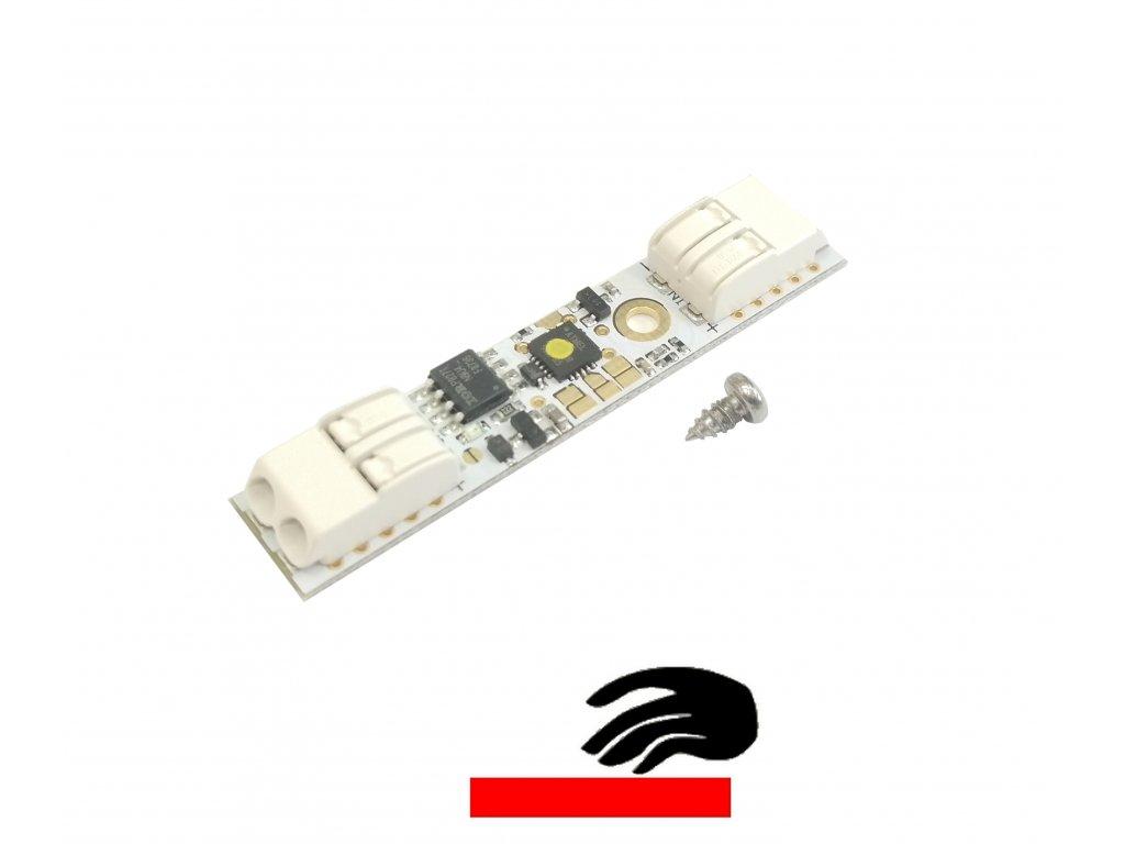 Dotykový stmívač do profilu se svorkami pro LED pásky. Osvětlení Praha TopLux skladem na prodejně