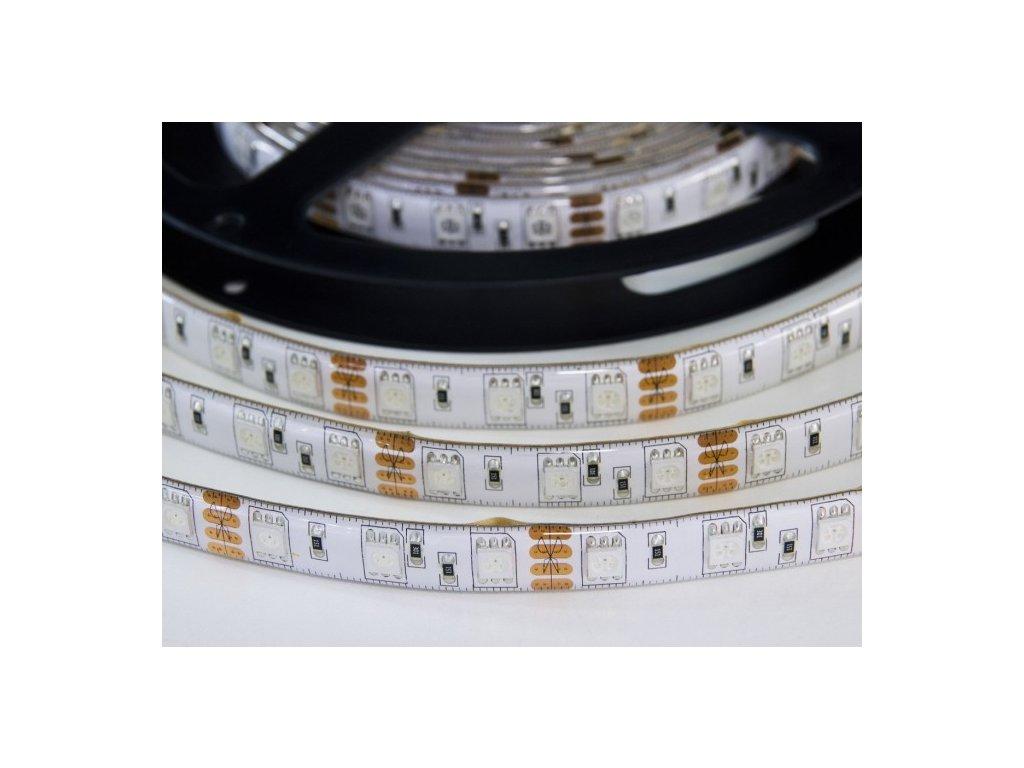 RGB LED pásek 12V 14,4W/m, vysoká svítivost, IP50 venkovní