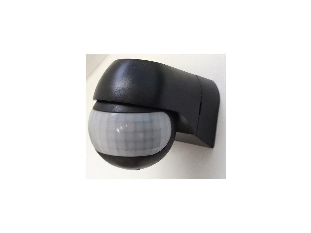 Pohybový senzor PIR IP44, černá barva. Cena 349 Kč. Osvětlení Praha TopLux skladem na prodejně