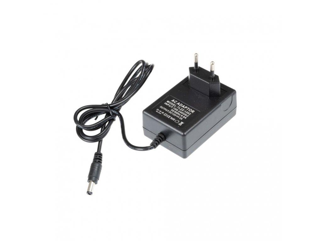 LED zdroj zásuvkový 12V 24W černý s kabelem
