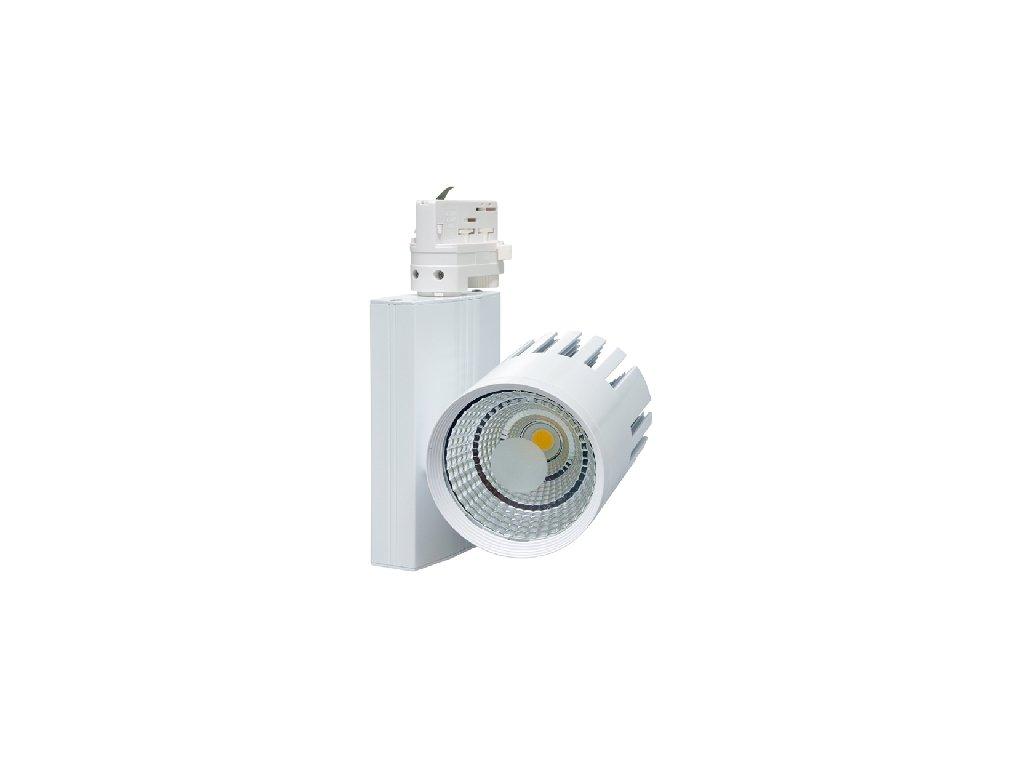 LED COB reflektor 30W bílý  Svítivost 2.700Lm, úhel svitu 60°  Barva světla 4500K neutrální denní  Náhrada za halogen 220W, IP20 vnítřní