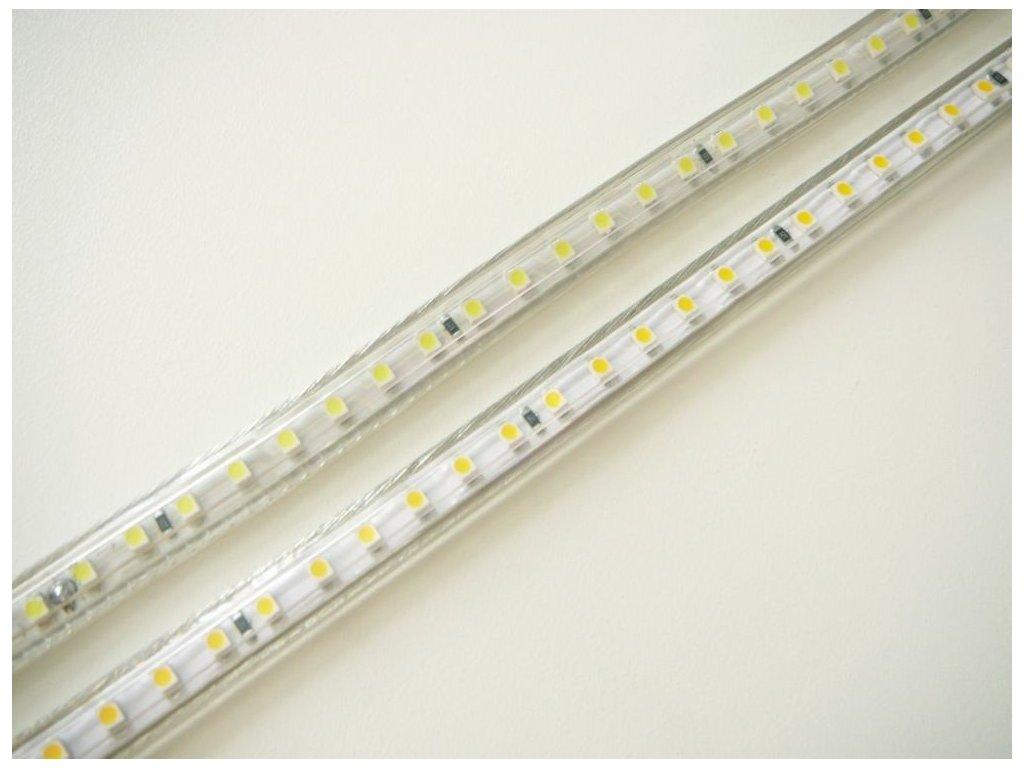 LED pásek venkovní zalitý na 230V 7W jednobarevný