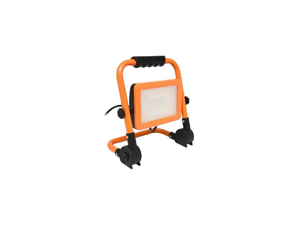 LED reflektor WORK RMLED 50W oranžový, LED halogen se stojanem a zástrčkou do zásuvky.