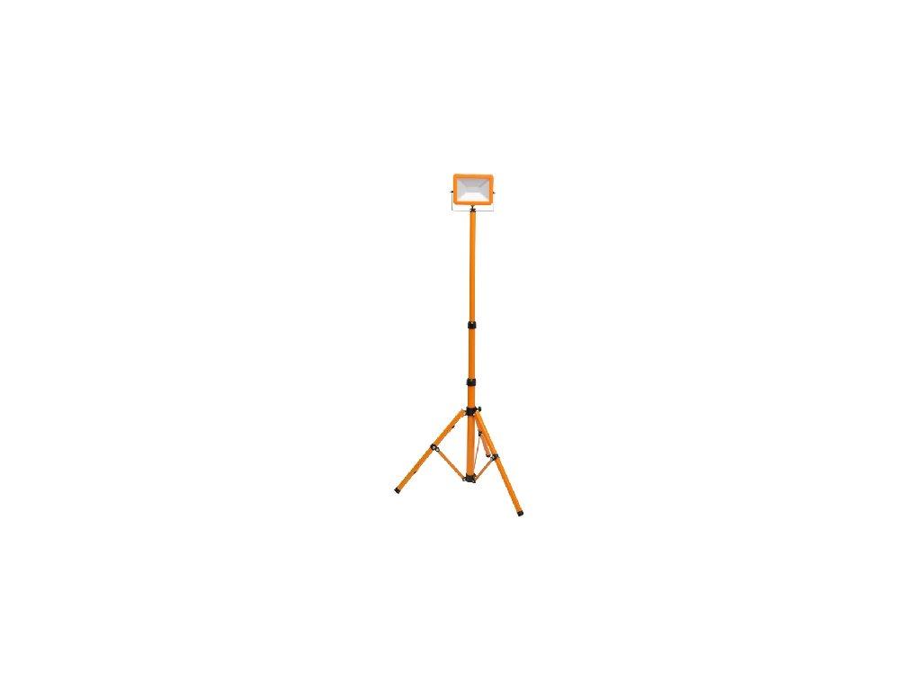 LED reflektor WORK RMLED 30W oranžový se stojanem, LED halogen se stojanem a zástrčkou do zásuvky.