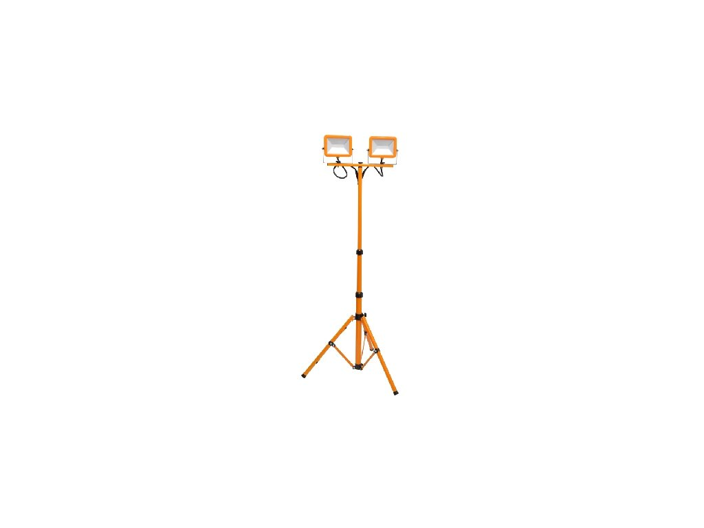 LED reflektor WORK RMLED 2x30W oranžový, LED halogen se stojanem a zástrčkou do zásuvky.