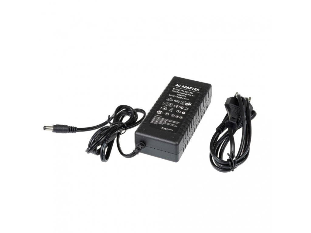 LED zdroj zásuvkový 12V 72W černý s kabelem