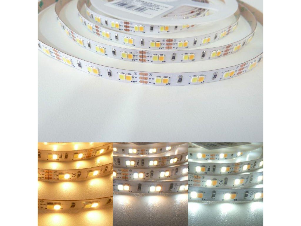 LED pásek CCT se změnou teploty barvy světla 18W 12V