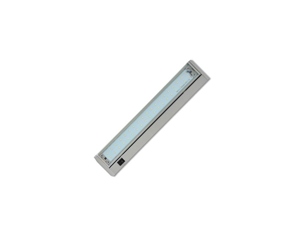 Led svítidlo Ecolite GANYS SMD 5W 36cm  stříbrná barva výklopné s vypínačem.
