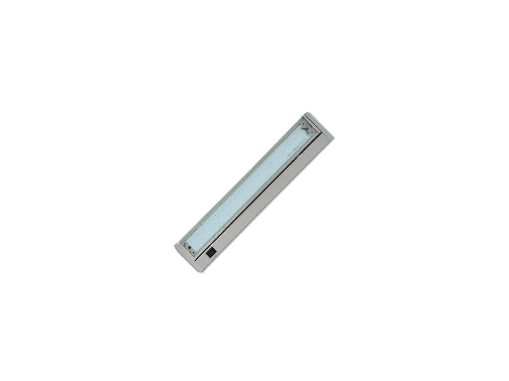 Led svítidlo Ecolite GANYS SMD 10W 60cm  stříbrná barva výklopné s vypínačem.